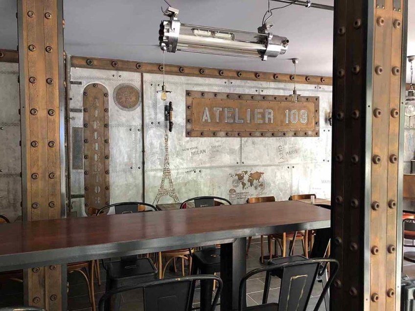 restaurant brasserie style industriel et IPN style Eiffel
