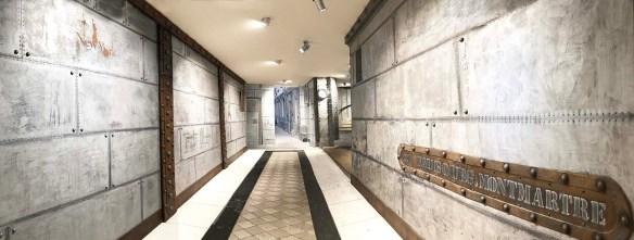 hall immeuble avec une décoration style industriel sur BA13