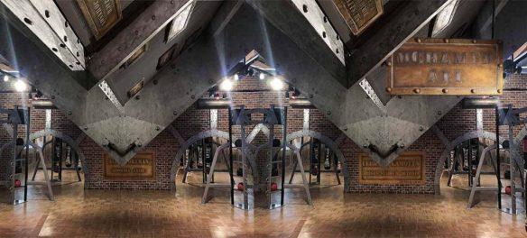 murs métalliques style industriel et Eiffel - A large room - Industrial style