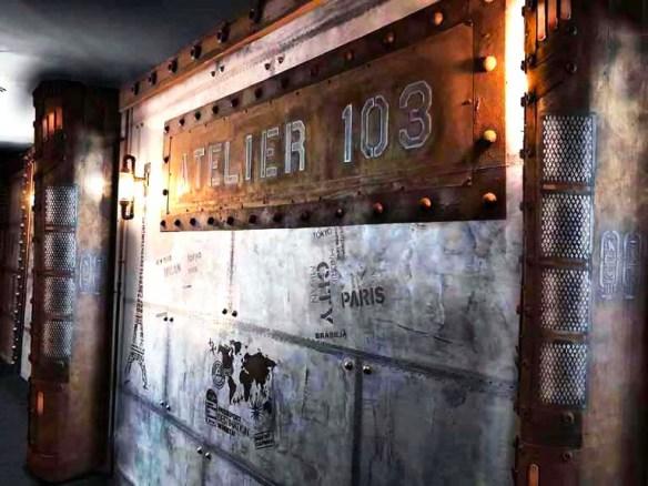 Déco bistrot de paris et IPN style Eiffel sur murs métal style industriel