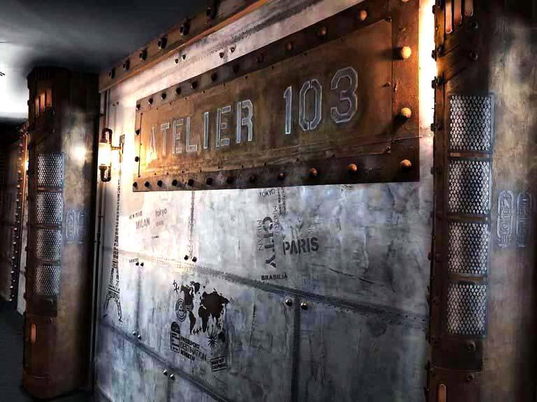 Rénovation brasserie placard inspiration Louis Vuitton