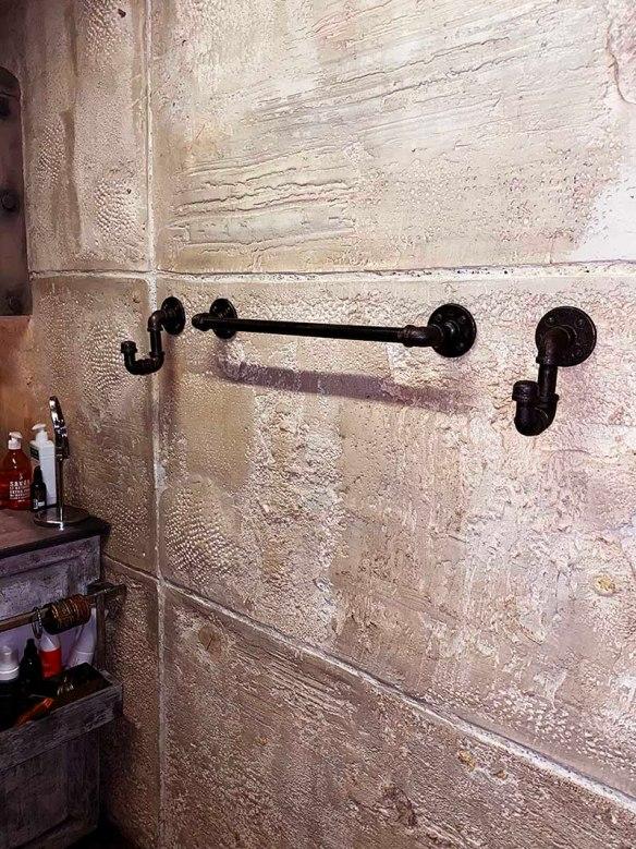 murs en fausse pierre antique
