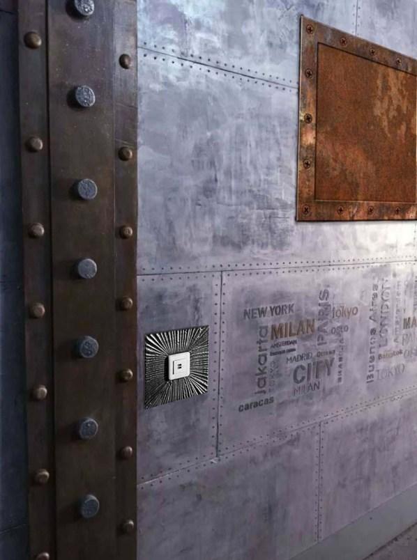 poutre métallique style Eiffel murs métal style industriel