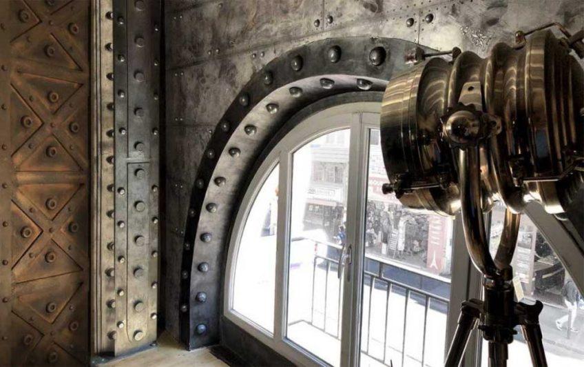 Décorateur murs métal steampunk style industriel et Eiffel