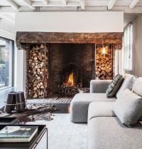 New Home Fireplace Designs. Beautiful Stone Fireplace ...