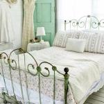 Rustic Brass Bedframe With A Light And Airy Color Scheme Decoration Ideas