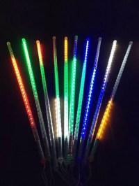 led meteor shower rain tube lights