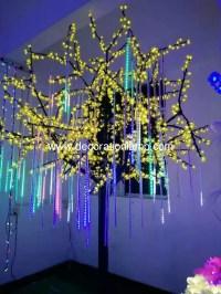 led meteor shower rain lights christmas light