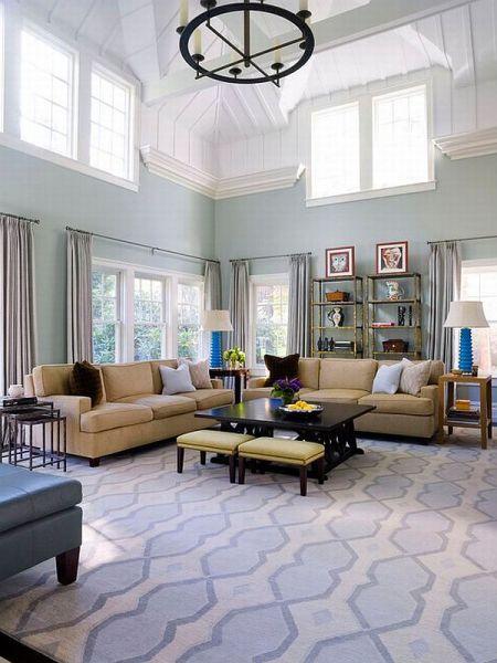 light blue carpet living room 25 Blue Living Room Design Ideas - Decoration Love