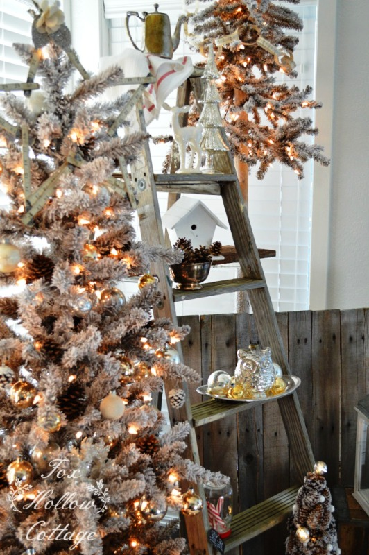 27 Rustic White Christmas Decorations Ideas  Decoration Love