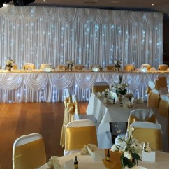 Wedding Chair Covers Devon Ergonomic Armrest Decorations Planning And Sashes Gold Satin
