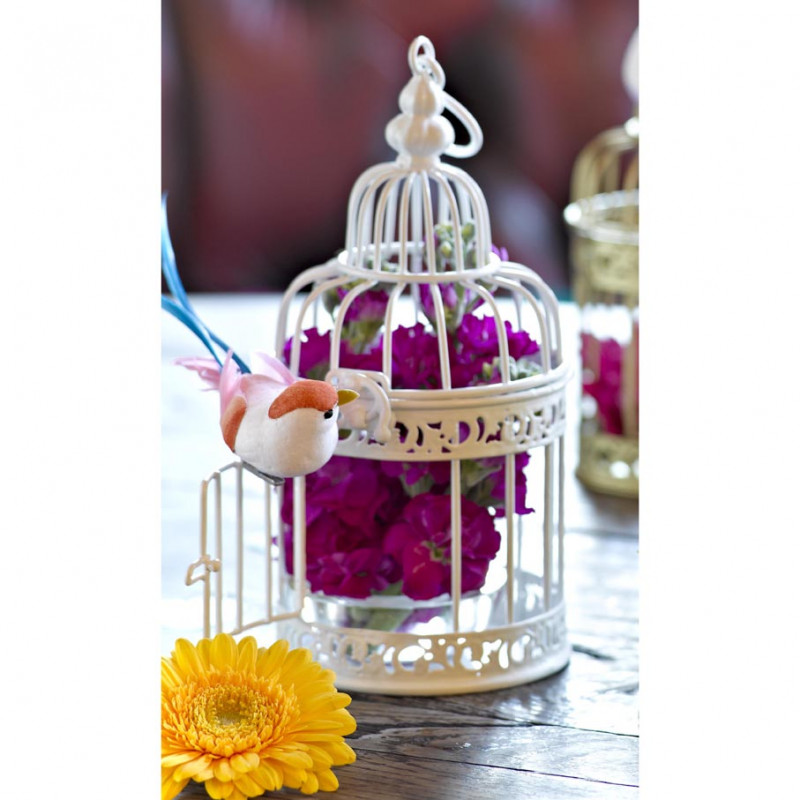 cage miniature blanche decoration mariage