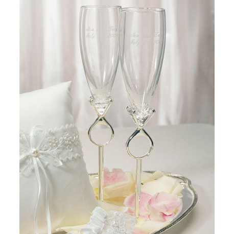 flutes champagne personnalis diamant