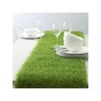 Chemin de table en fausse herbe, en gazon vert artificiel
