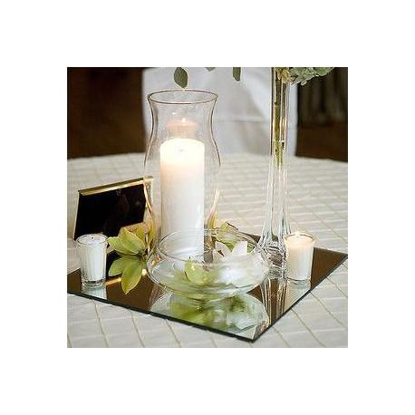 Miroir de table carr pour dcoration mariage