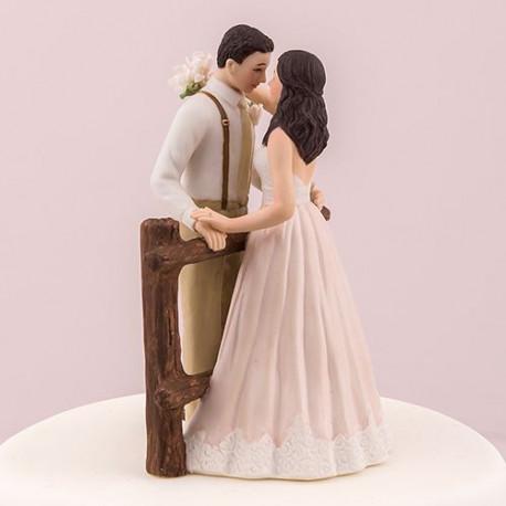 Figurine pice monte mariage rustique