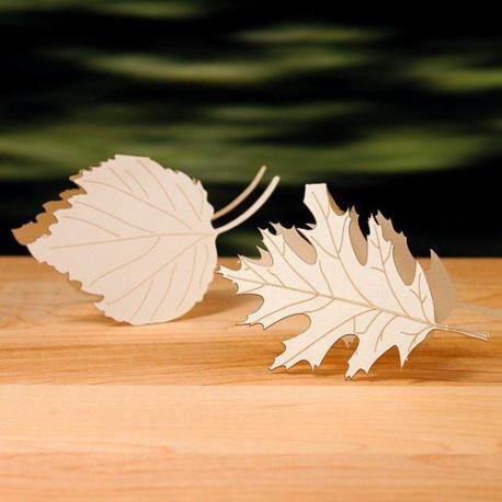 Marque place feuille darbre  deco automne