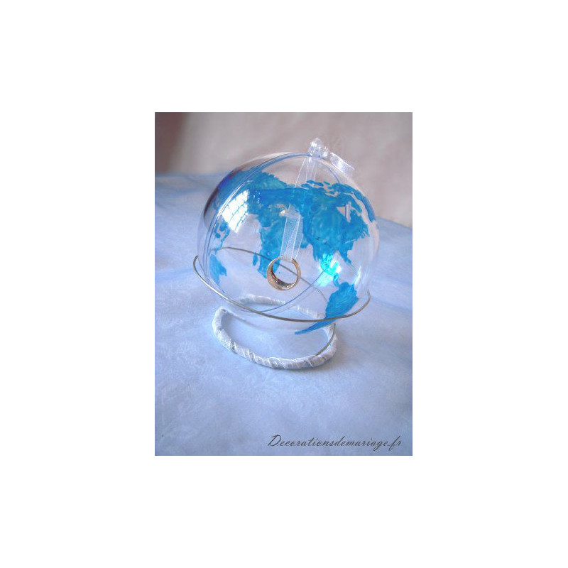 Porte alliances globe mariage DIY