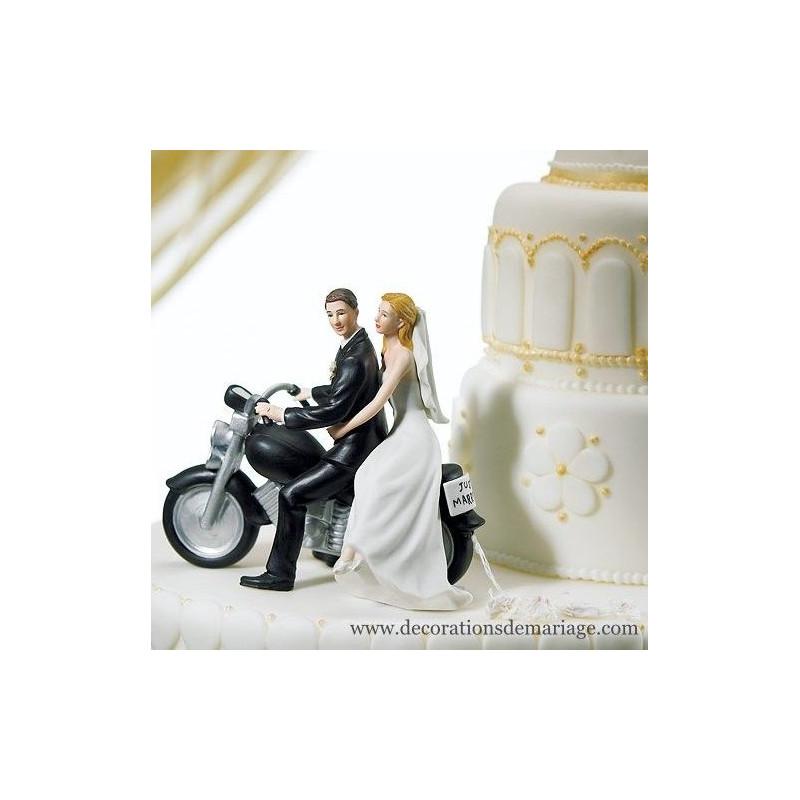 Figurine mariage moto pour pice monte