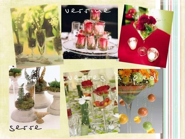 Dcoration Florale De Table Verre Centre De Table Luxe T