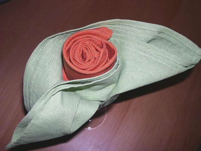 Pliage Serviette Du Bouton De Rose
