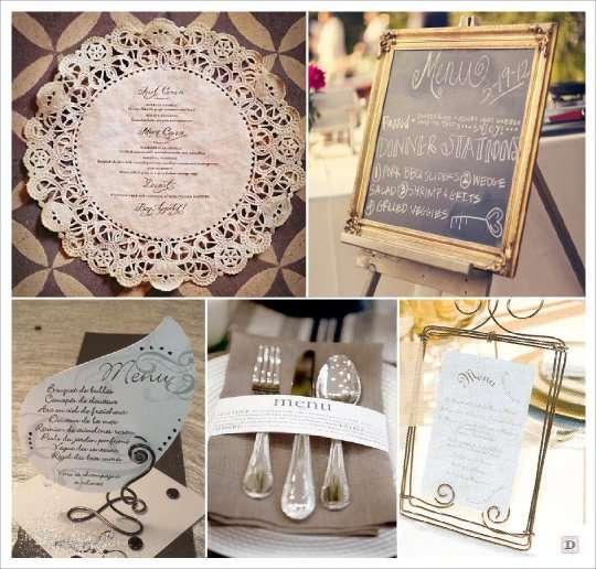 decoration mariage baroque menu baroque