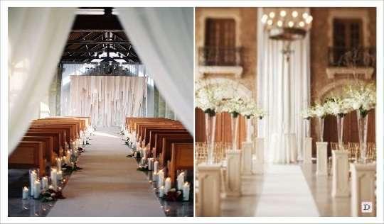 Dcoration glise mariage  1001 ides