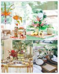 Decoration mariage tropical