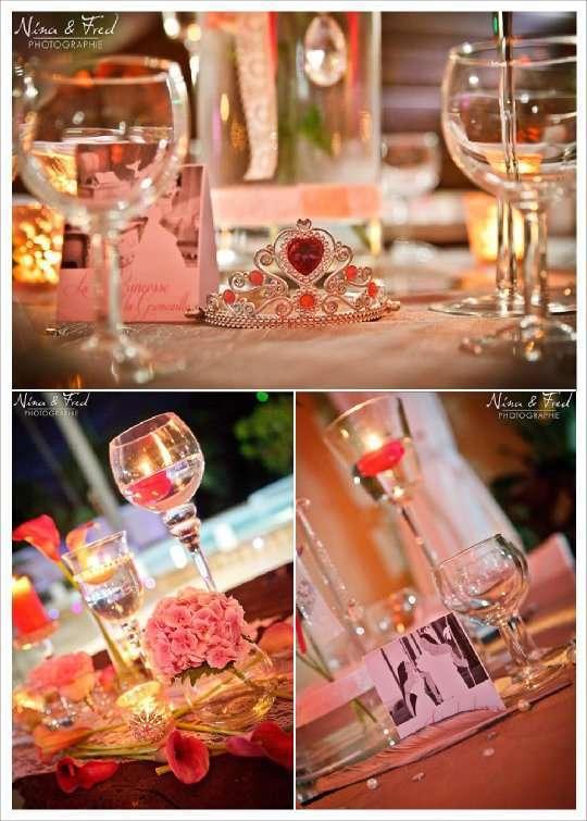 mariage gris et rose