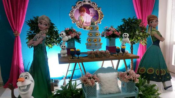 Tema de Festa Frozen Fever  Decorativa Festas  Decorao