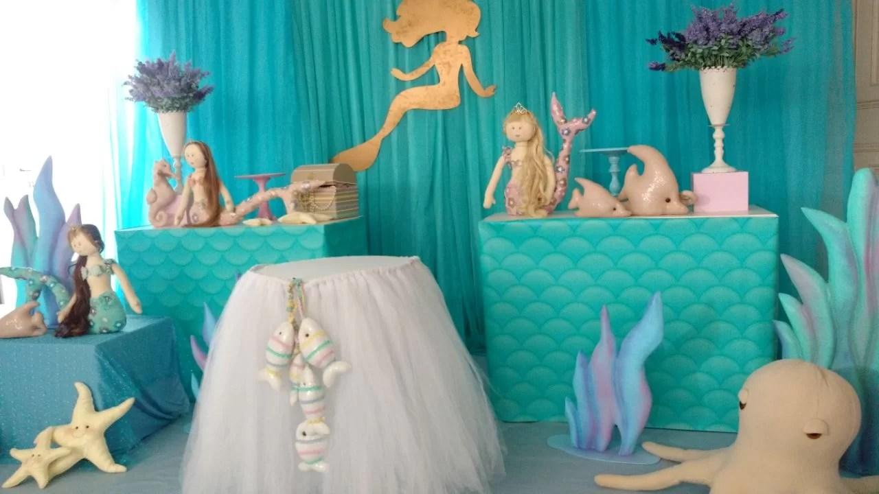Tema de Festa Sereia Master  Decorativa Festas
