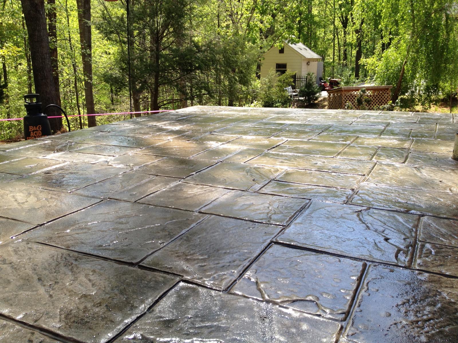 Stamped Concrete Overlay Concrete Restoration  Decorative Concrete of Virginia