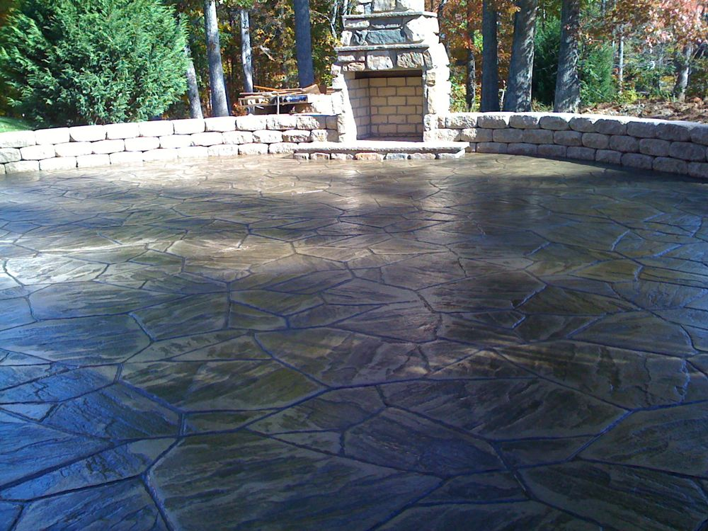 Stamped Concrete  Colors  Patterns  Decorative