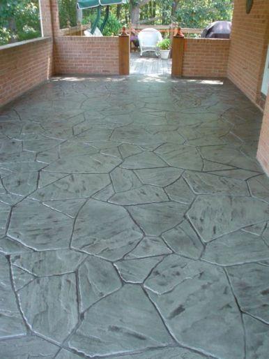 Flagstone concrete overlay