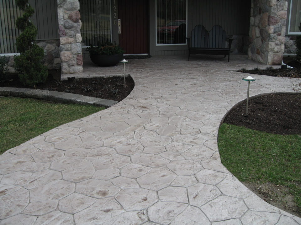 Custom Concrete Front Entryway Designs and Ideas St Louis MO