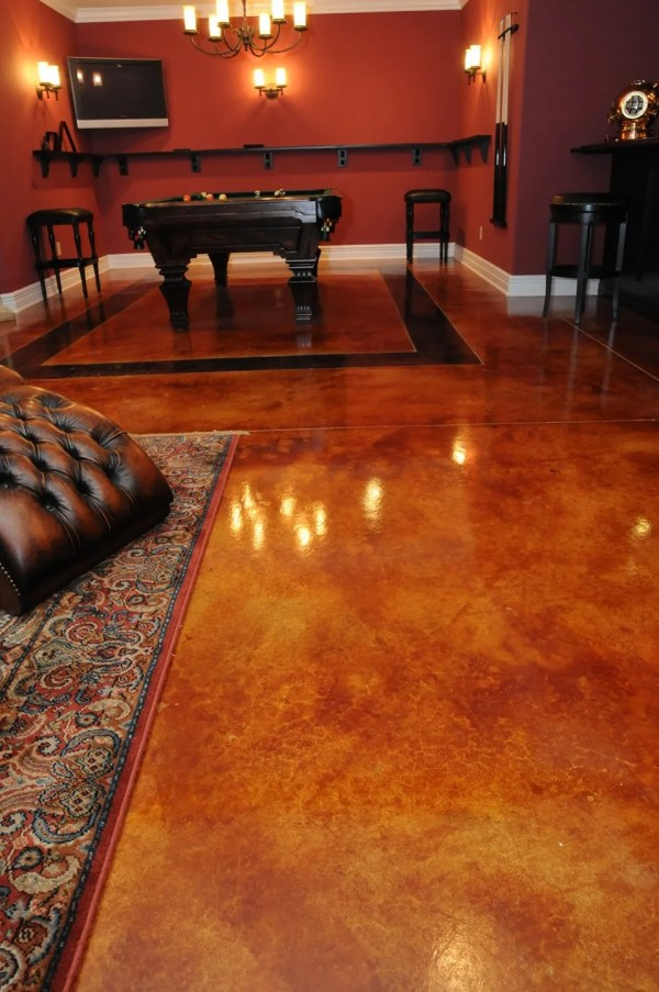 Basement - Decorative Concrete Resurfacing
