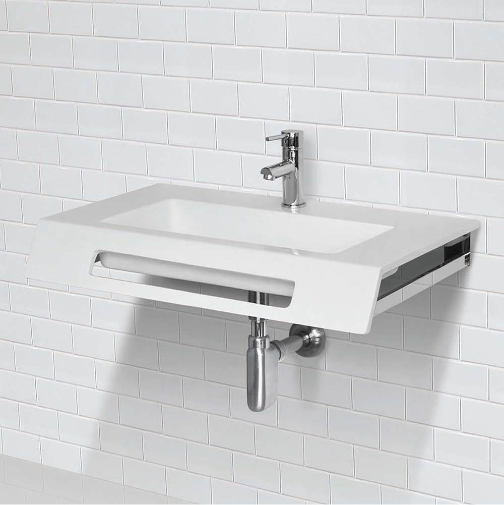 solid surface ada compliant wall mount lavatory