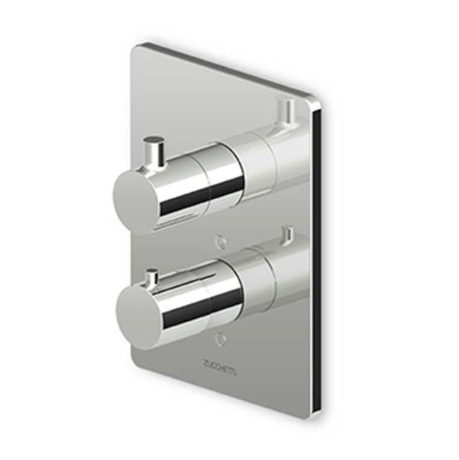 built in thermostatic shower mixer with stop