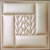 Modern Wallpaper Decorative 3D Leather Wall Panels for ...