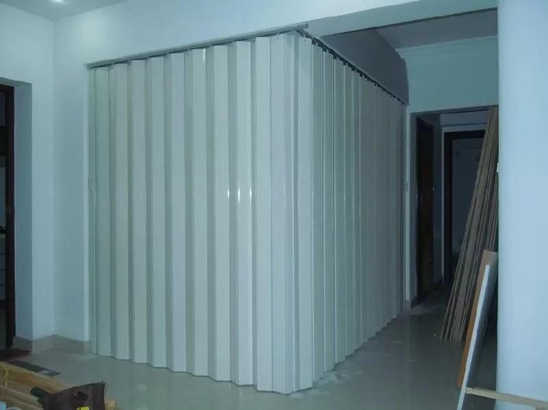 Washable PVC Folding Door Interior , Foldable Toilet Door