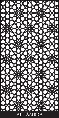 Alhambra Laser Cut Decorative Screen - Decorative Screens ...