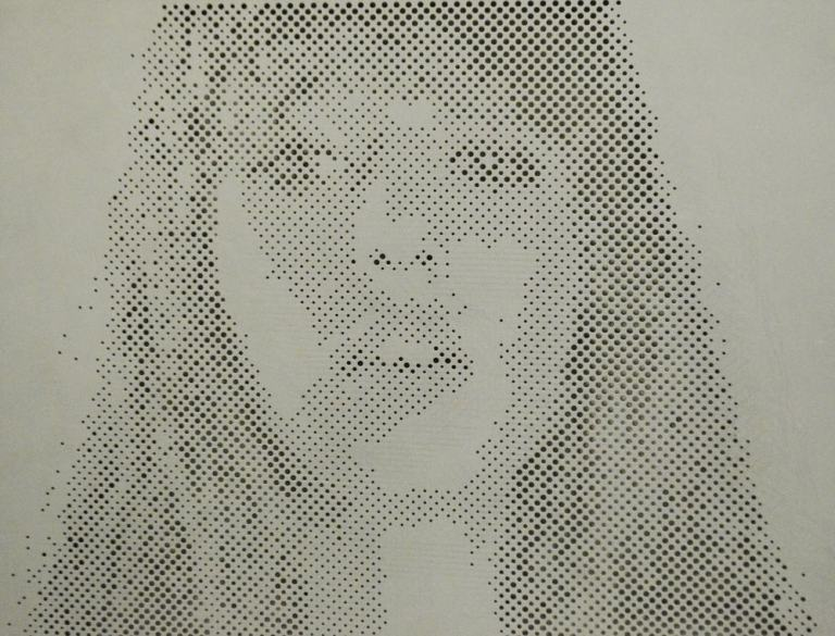 Woman Image Perforated Screens