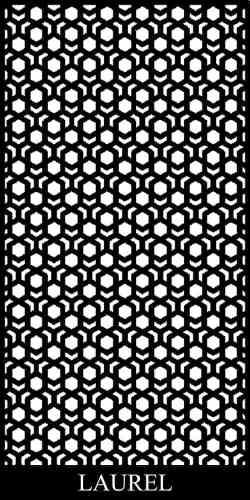Laurel Laser Cut Panel