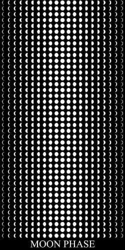 Moon Phase Decorative Gradient Panel