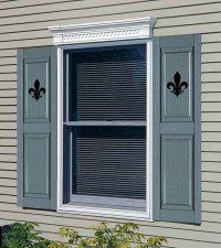 Exterior Window Shutters With Decorative Cutouts   Zef Jam