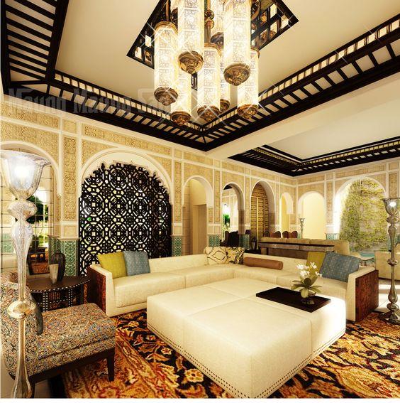 غرفة معيشة 2 2 ديكورات عربية في غاية الفخامة لمنزلك