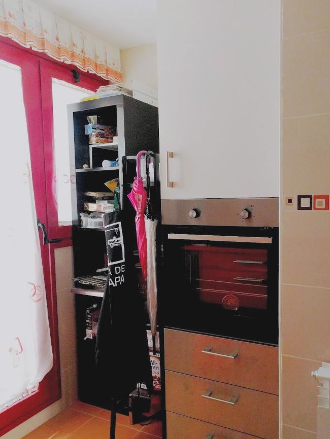 Armarios y estanterías en cocina de alquiler