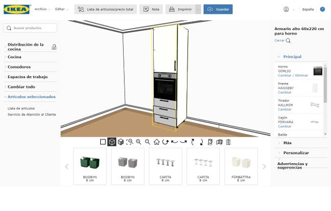 Planificador IKEA para el armario de cocina.