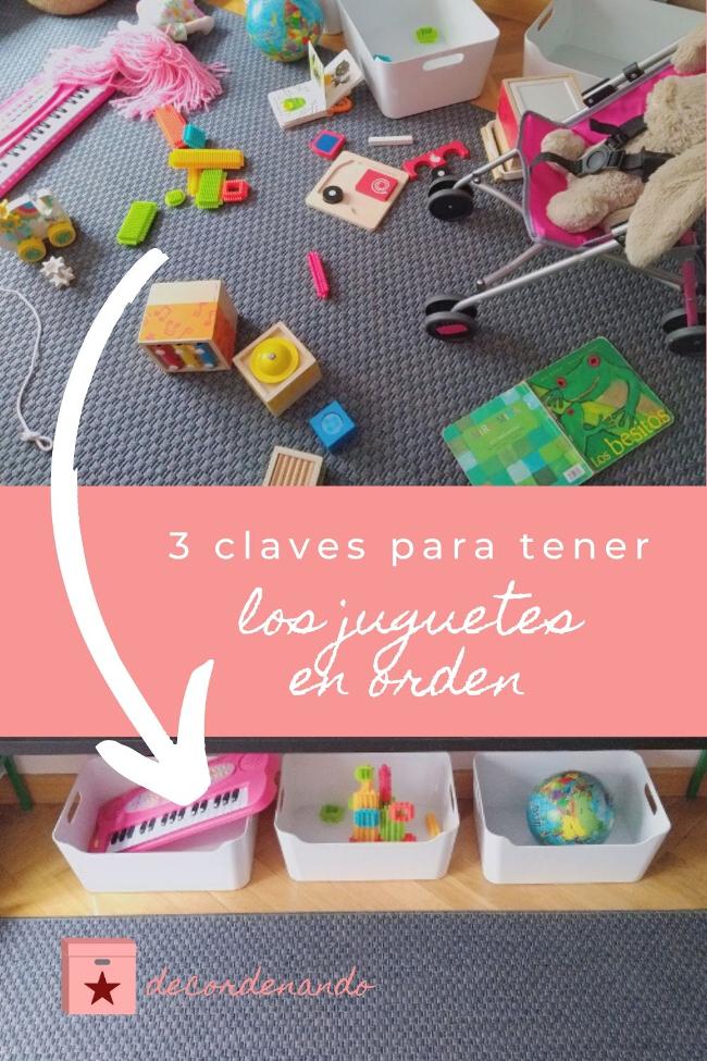 imagen para Pinterest: 3 claves para tener los juguetes ordenados