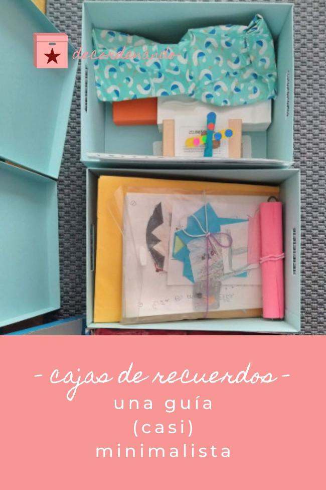 cajas de recuerdos - una guía (casi) minimalista